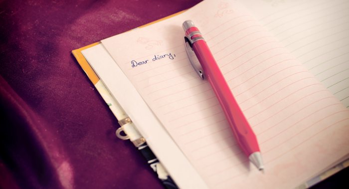 Writing In A Diary ~ Diary writing
